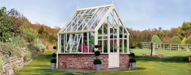 A White Hartley Botanic Greenhouse From The Small Greenhouse Range
