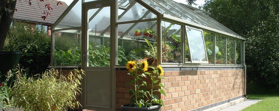 A Green Hartley Botanic 8x8 Tradition 8 Greenhouse