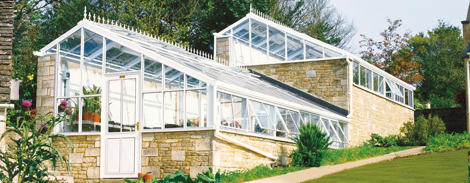 White Bespoke Lean-to Greenhouse 4 by Hartley Botanic