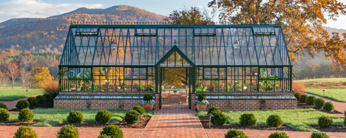 Black Hartley Botanic Victorian Grand Manor Greenhouse