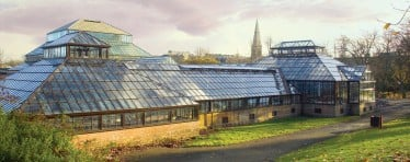 Large Hartley Botanic Glasshouse in a Garden