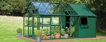 Interior of the Grow and Store greenhouses & glasshouses from Hartley Botanic