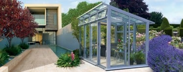 A Grey Contemporary Greenhouse by Hartley Botanic
