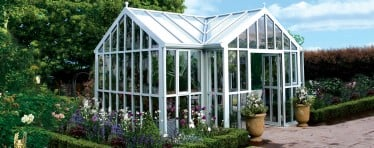 A glass to ground greenhouse from the Hartley Botanic Monder Horticulture glasshouse range