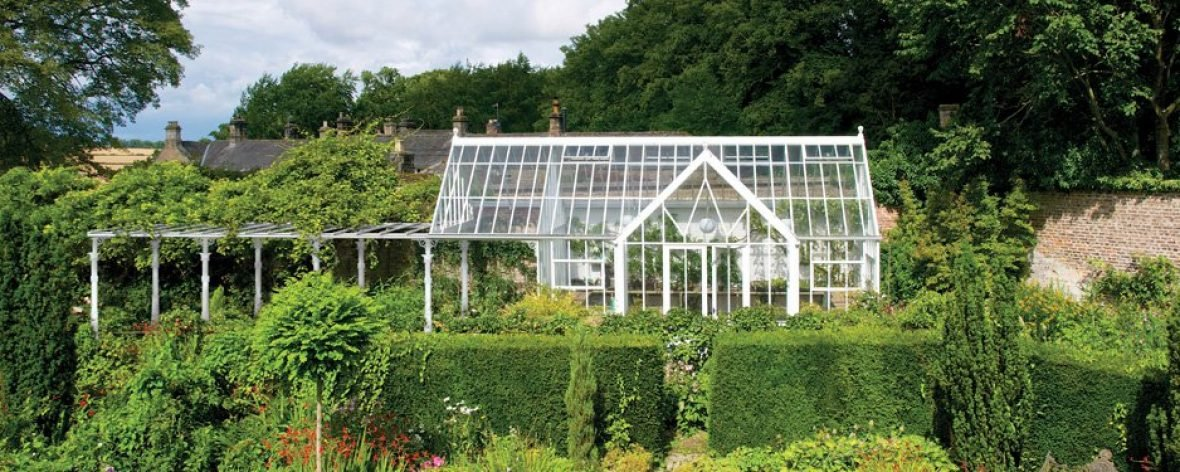 A White Hartley Botanic Greenhouse From The Achitectural Glasshouse Range