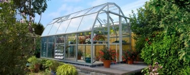Grey Wisley 8 greenhouse from the Hartley Botanic small greenhouse range
