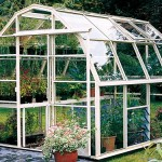 Front Right View of a White Wisley 8 Greenhouse From The Hartley Botanic Small Greenhouse Range.