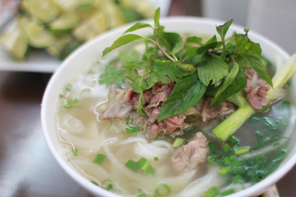 Rice Noodles with Mint