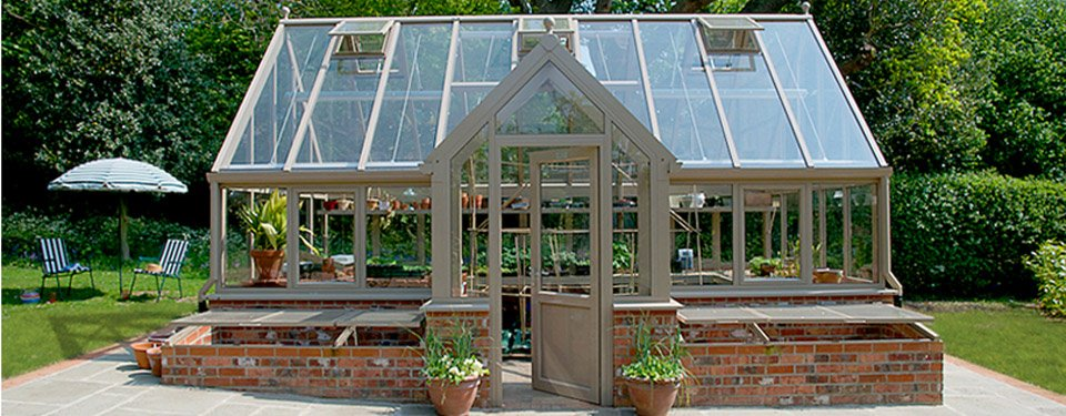 Free Standing Glass To Ground Botanical Glasshouses By