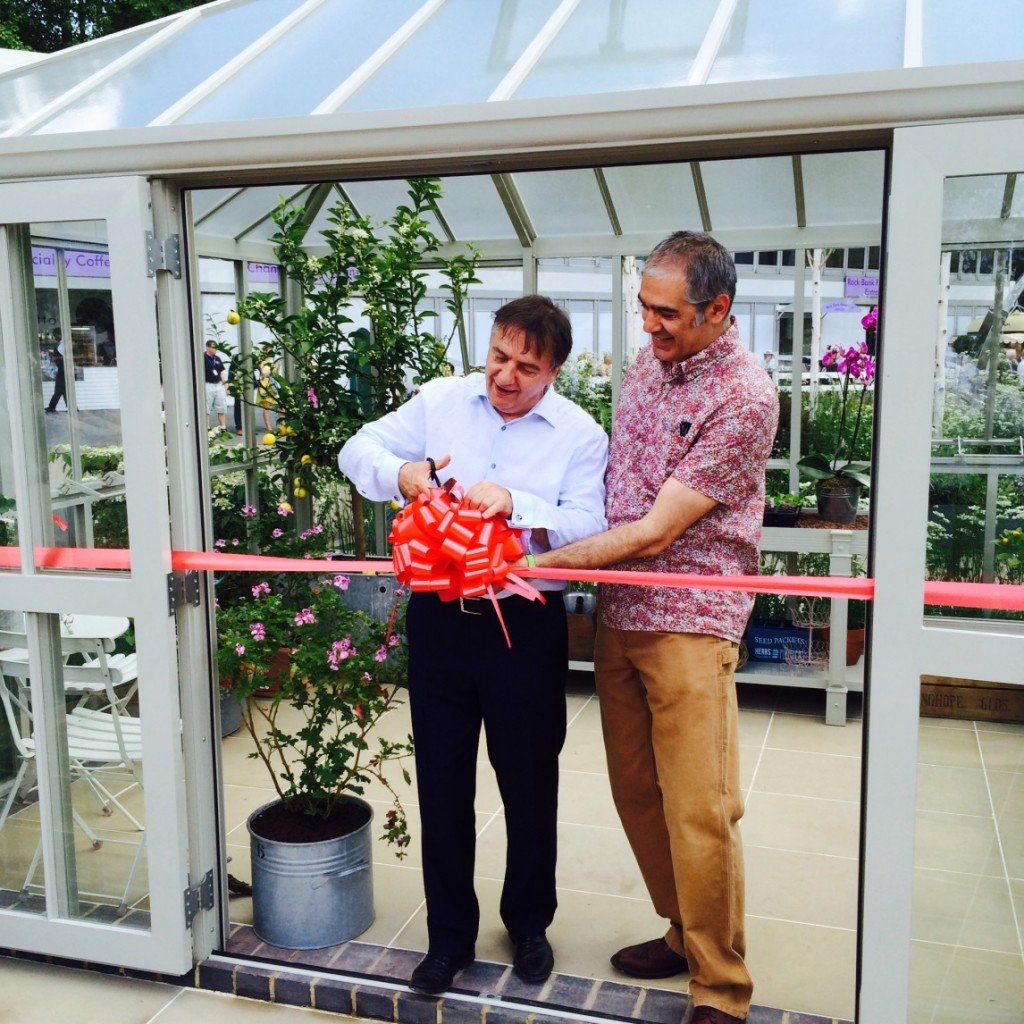Raymond Blanc and Hartley Botanic Managing Director Johnny Mobasher