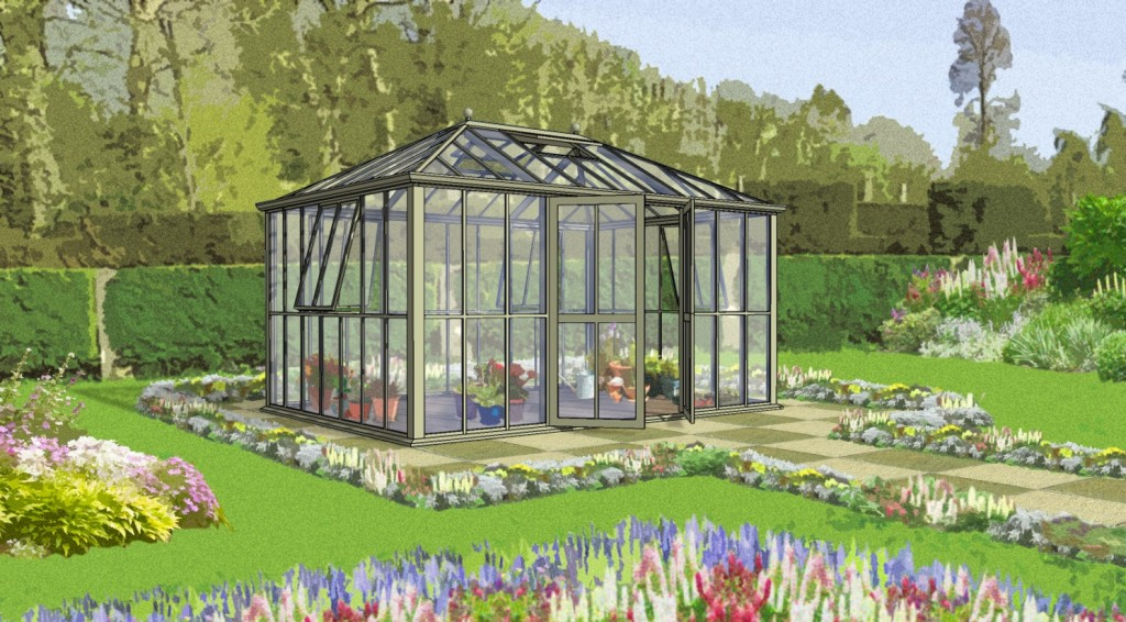 """The Westminster"" - Hartley Botanics brand new glasshouse being opened by Raymond Blanc on Monday 19th May at RHS Chelsea Flower Show. 10:45 at Stand TR1"