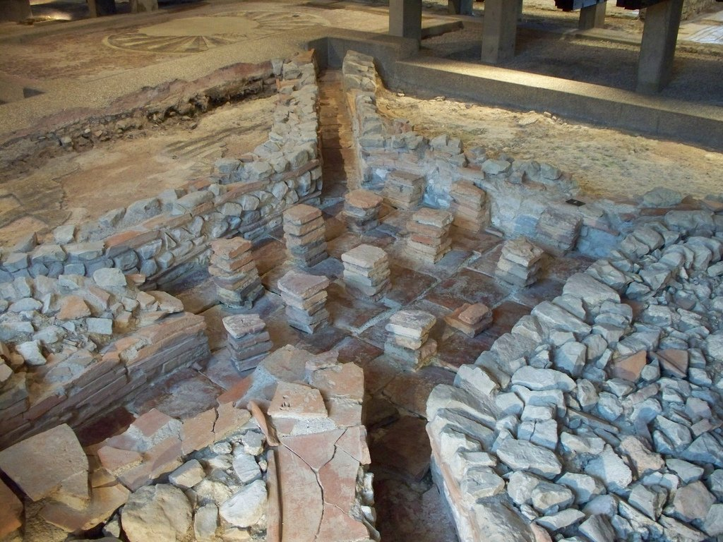 Remains of a Hypocaust system in West Sussex. Photograph by Rhino Not For Sale.