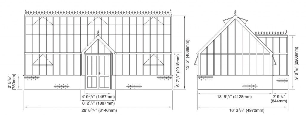 Victorian Manor Elevations
