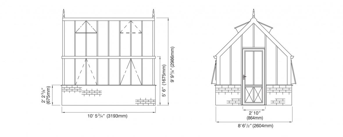 Victorian Planthouse Elevations